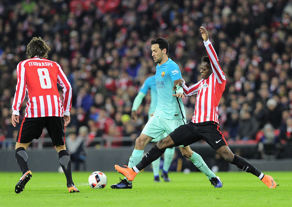 Nine-man Bilbao beat Barcelona in feisty Cup tie