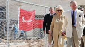 Prince Charles and the Duchess of Cornwall on tour in Jordan today.