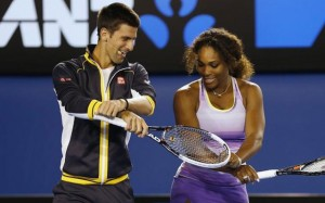 Novak Djokovic and Serena Williams both won at the US Open today.
