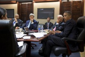 Obama meeting with key players in Washington.