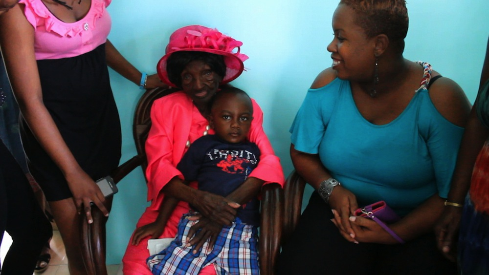 Friends and relatives visited Marie Louise Brereton for her celebration at Good Citizens Care of the Elderly Senior Citizens Home.