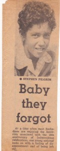 Newspaper clipping of The Baby they forgot article
