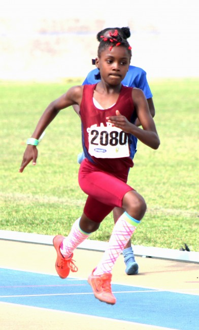 Samiya Dell of Sharon Primary will bring lots of speed to the track tomorrow.