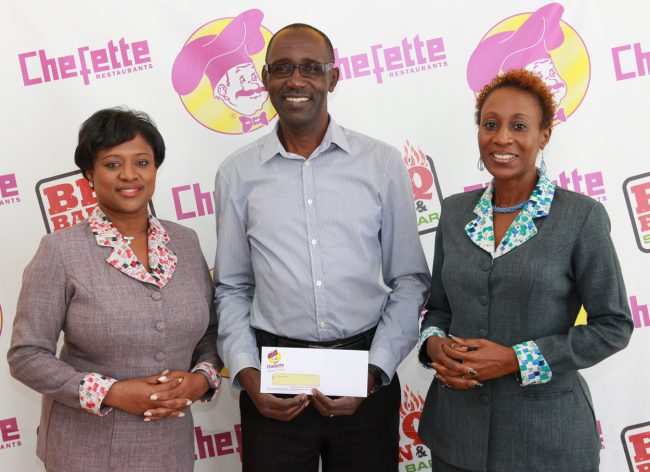 From left,Chefette advertising manager Lisa Carter, executive producer of Gospelfest Adrian Agard and Chefette marketing officer Marquest Clarke-Griffith.