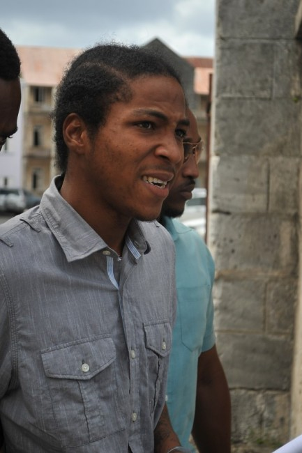 Michael Kenan Blackett as he was leaving court today.