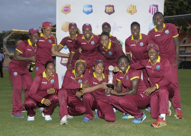 West Indies Women celebrating after taking the ODI series.