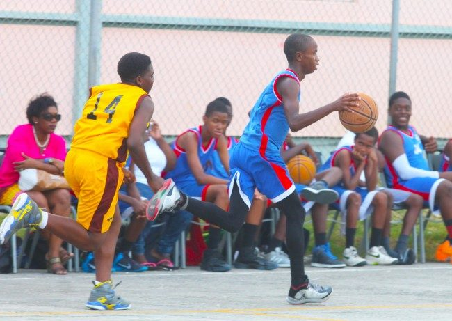 Queens-College's Makaari Jones (right) will be one of eight junior basketballers heading to New York City.