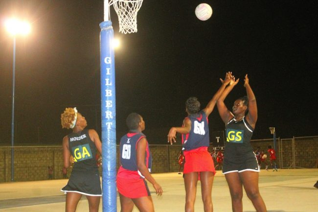 University of the West Indies Blackbirds goal-shooter Shonica Wharton was superb netting 60 goals in the game.