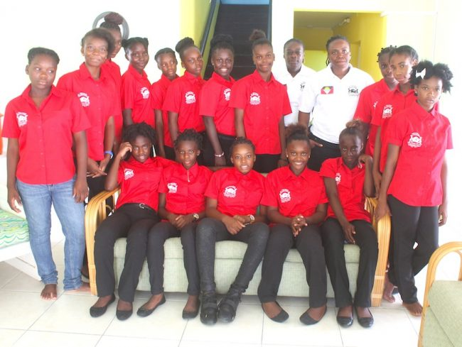 Members of the Antigua and Bermuda Under-15 Football team. (Picture by Morissa Lindsay)