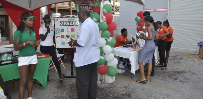 Some customers taking part in the Rubis Big Five Fuel promotion.