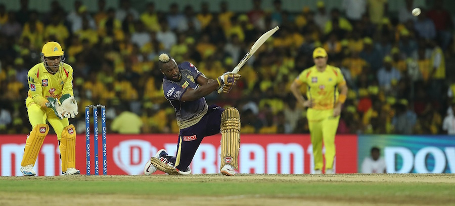 Knight Riders' Andre Russell made the most runs in the match but finished on the losing team.