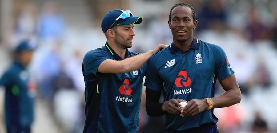 Mark Wood (left) and Jofra Archer have both clocked 95mph during the World Cup.