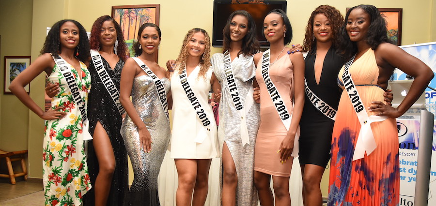 The contestants of 2019 Miss Universe Barbados