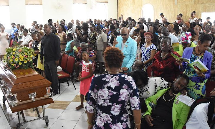 Hundreds gathered at the Kingdom of Life Assembly Inch Marlow, Christ Church for the funeral service of Rupert Patrick Stoute who was killed almost two weeks ago.